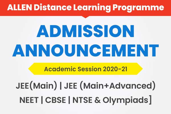 Admission Announcement 2020-21